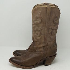 Spirit Tan Leather Western Boot 7.5